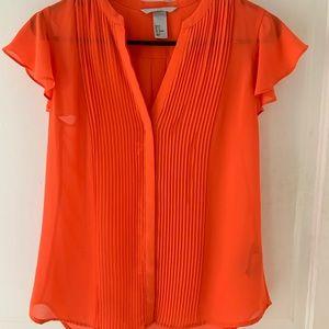 Orange size 6 h&m blouse
